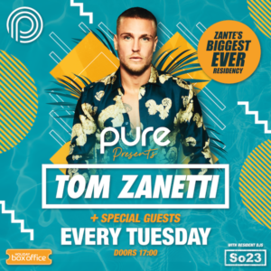 Tom Zanetti Pool Party Square event poster