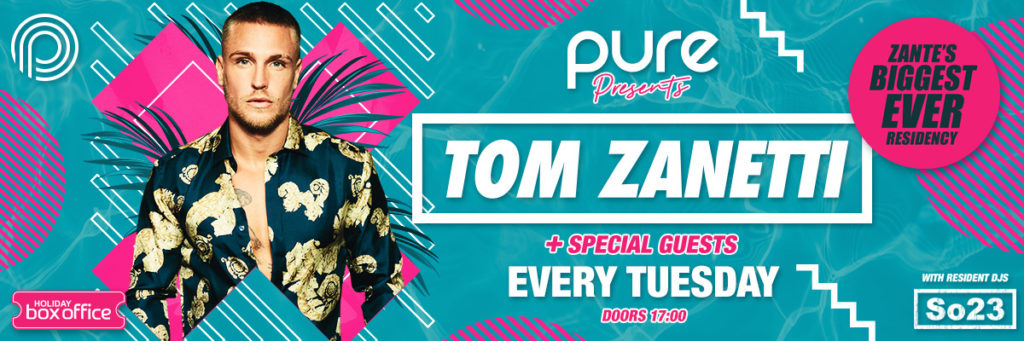 Tom Zanetti Pool Party Pink Banner
