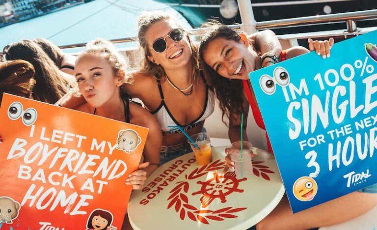 Tidal Zante boat party fun girls