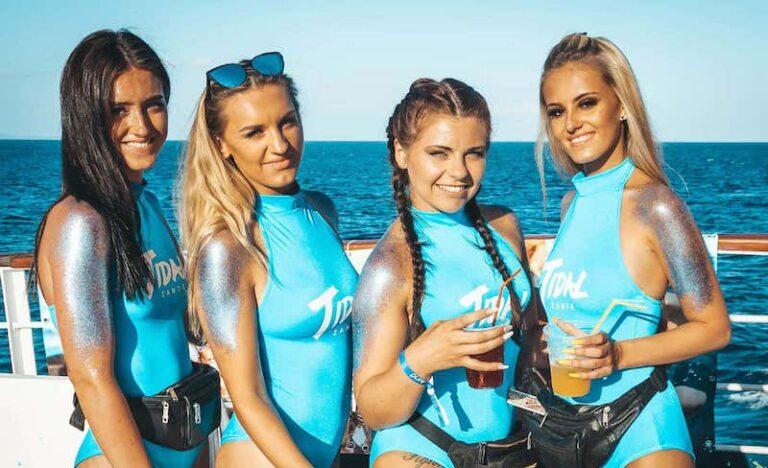 Tidal Zante boat party promo girls