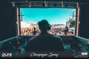 Pure Champagne Spray top resident DJ's
