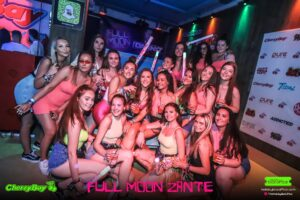 Group of Girls Full Moon Party Zante CherryBay