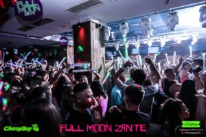Full Moon Party Crowd Shot Zante