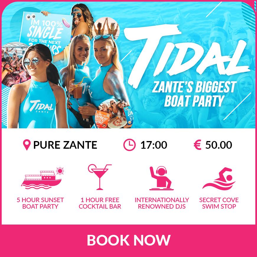 Tidal Zante boat party
