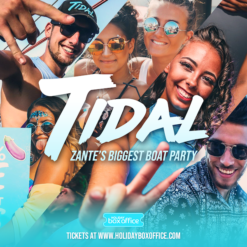 Tidal Zante boat party Square 2020