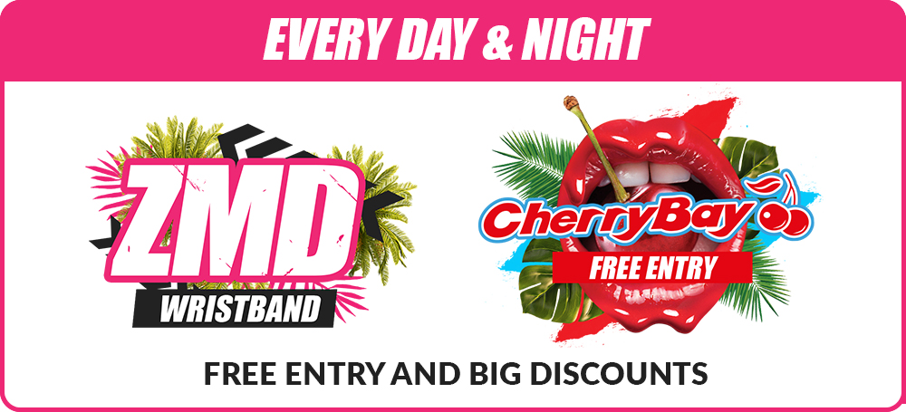 Zante mega deal events package zmd wristband CherryBay free entry