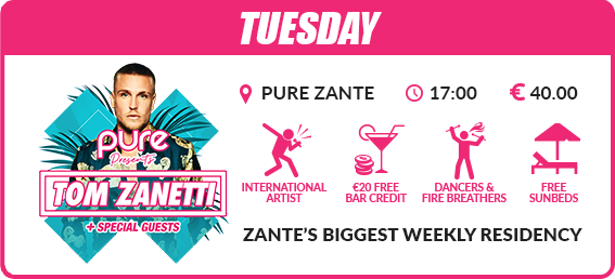 Zante mega deal events package Tuesday Tom zanetti