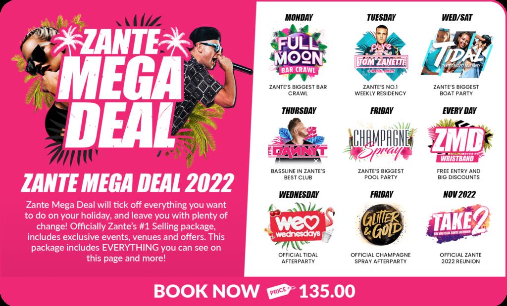 Zante Events 2022 Mega Deal